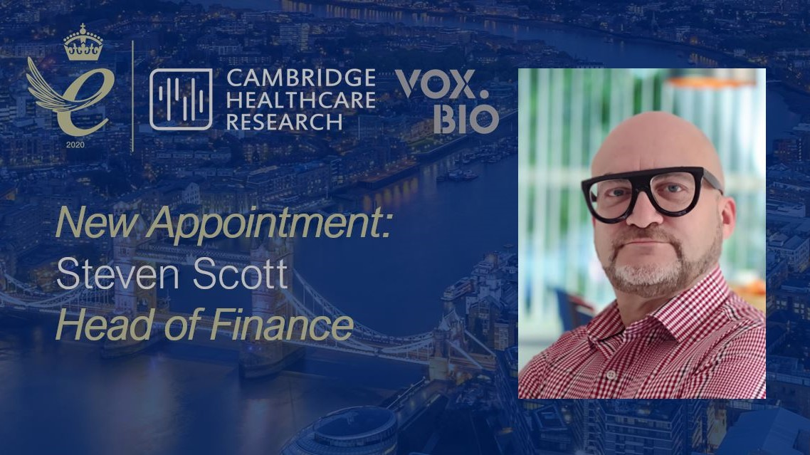 Vox.Bio and CHR welcomes Steve Scott as new Head of Finance